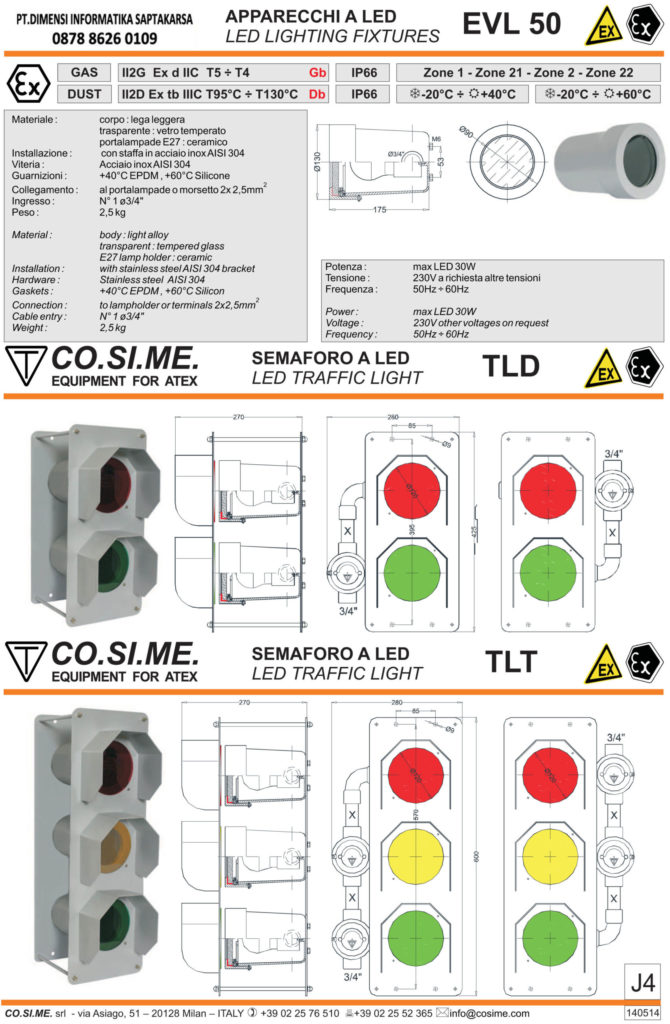 LED traffic light TLD - TLT seires